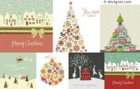 Lovely elegant Christmas theme vector material