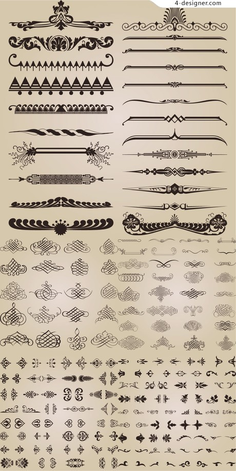 Page decorative pattern vector material
