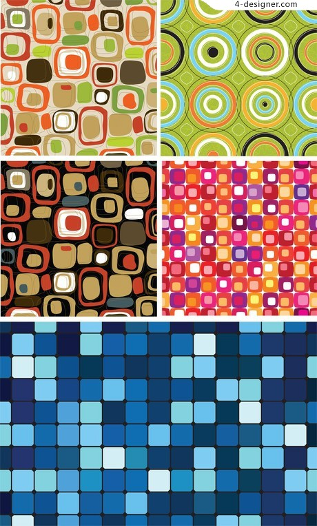 Painted checkered background vector material