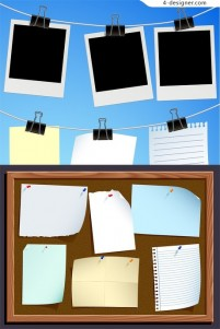 Paper and Notice vector material