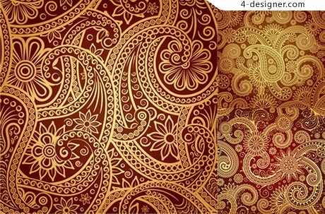 Phnom Penh traditional ornate pattern vector material