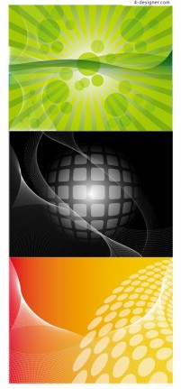 Red green and black dynamic background vector material