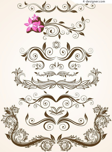 SIDE decorative pattern vector material