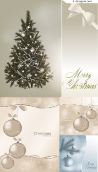 Simple and elegant Christmas background vector material