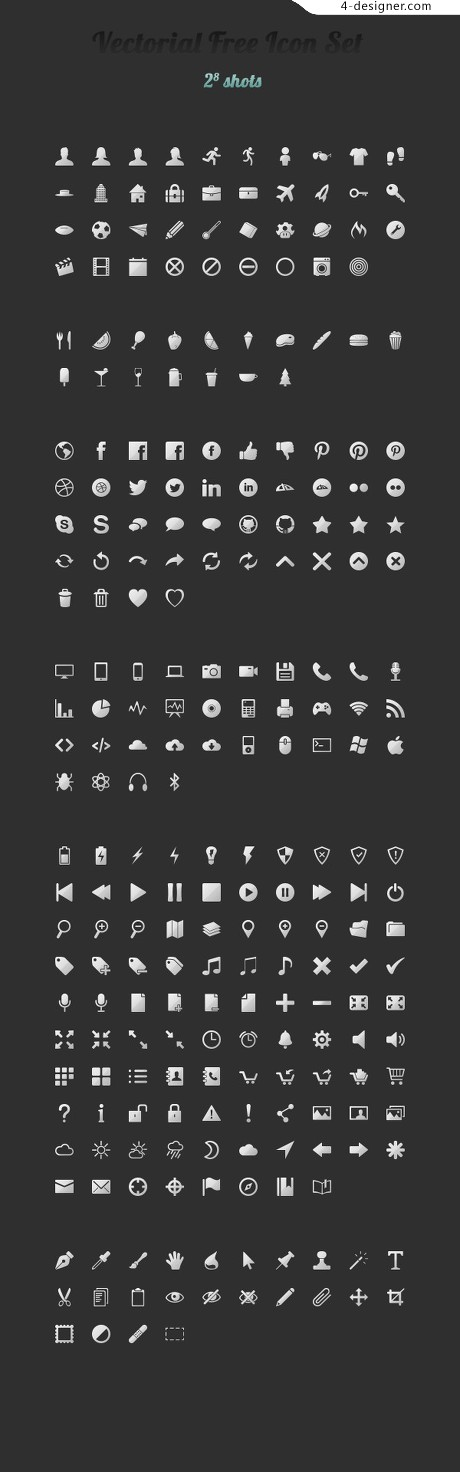 Small icon UI PSD material