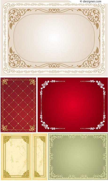 With spot color background classical decorative frame vector material