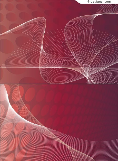 3 dynamic abstract red background vector material