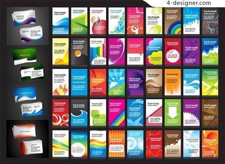 A variety of card background vector material