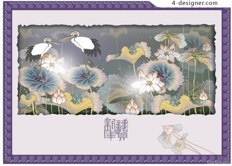 Ancient painting painting Watercolor pattern