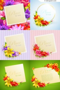 Baskets card vector material
