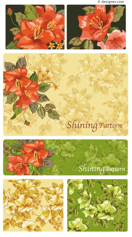 Beautiful background pattern vector material Series 02