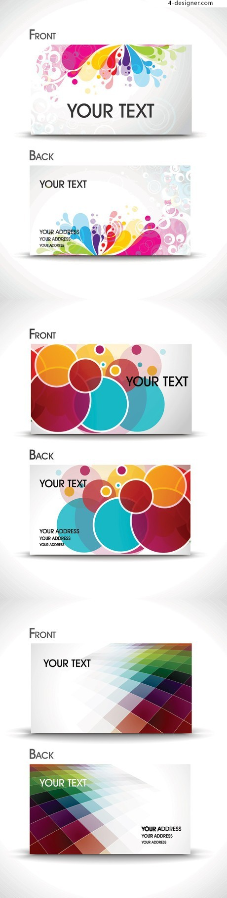 Beautiful business card template vector material