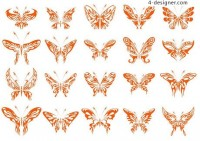 Beautiful butterfly graphics vector material