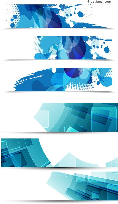 Blue concept banner vector material