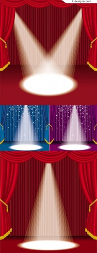 Brilliant under stage lights vector material