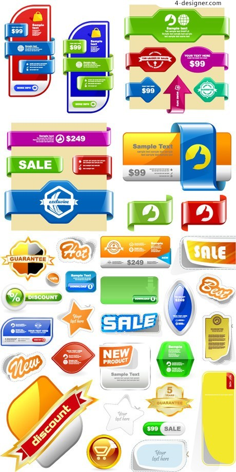 Business Icons website decorative module vector material