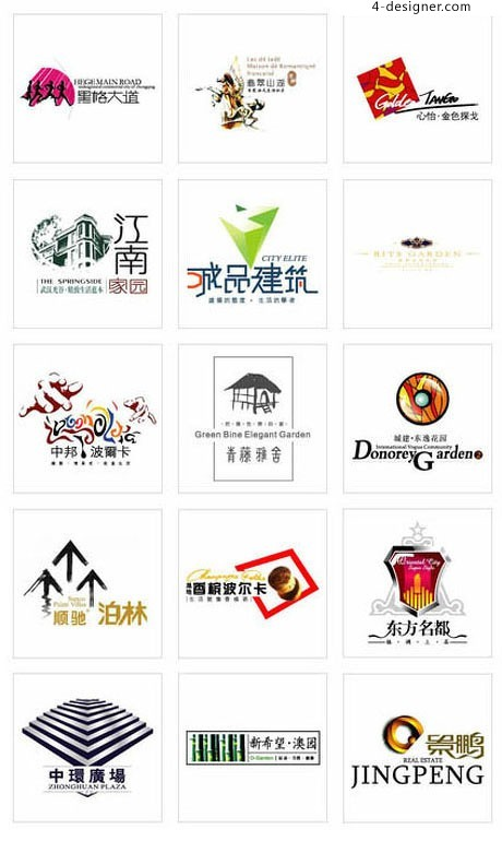 Chinese real estate LOGO Vector material 12
