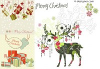 Christmas exquisite pattern vector material