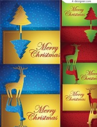 Christmas greeting card vector material