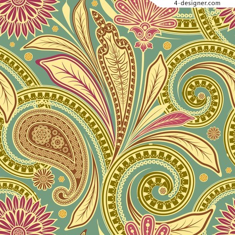 Classical India ham pattern decorative background vector material