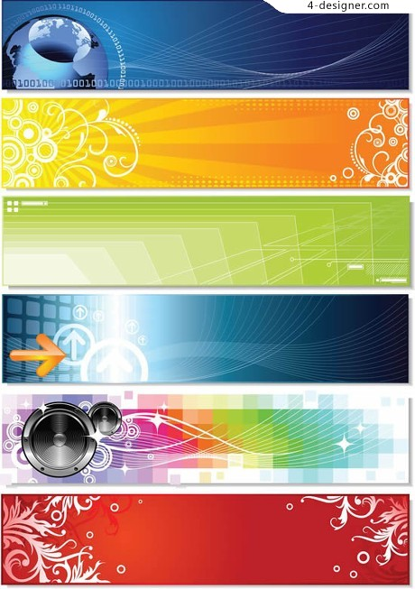 Clean lines and dynamic vector material banner BANNER
