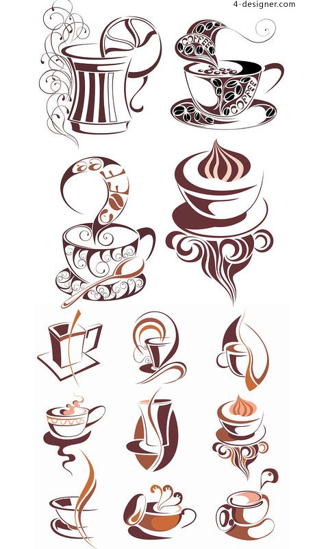 Coffee icon vector material