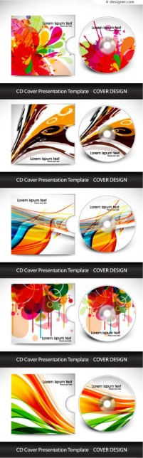 Colorful CD cover vector material