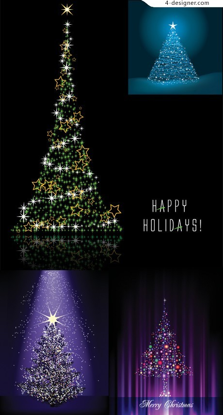 Dream Star Christmas tree vector material four