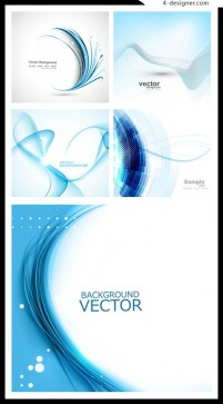 Dynamic blue lines background vector material