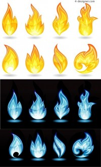 Fire flames vector material