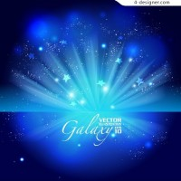 Gorgeous blue glare background vector material