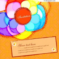 Gorgeous color strokes vector material