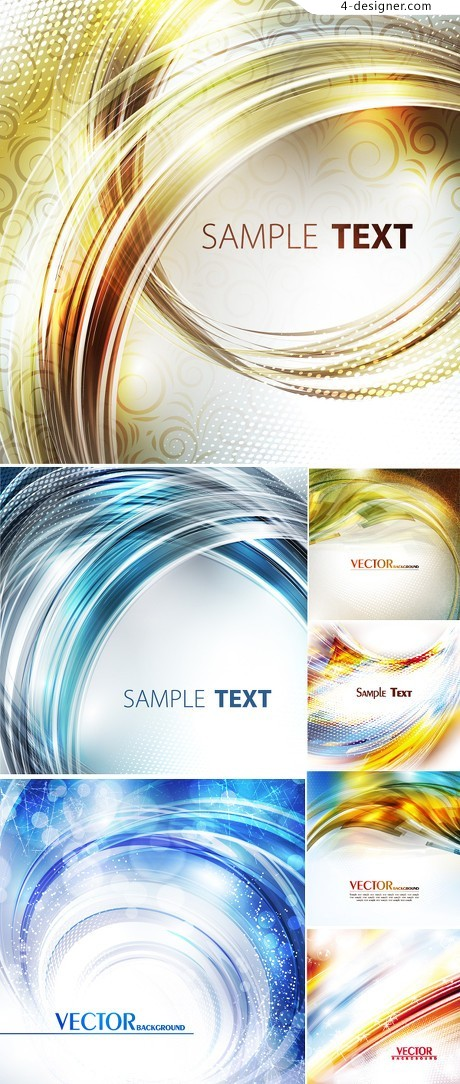 Gorgeous fantasy curve background vector material