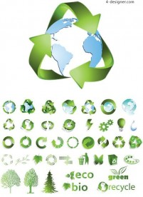 Icon vector material commonly used in a variety of environmental protection