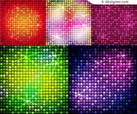 Light flashes gorgeous rays background vector material
