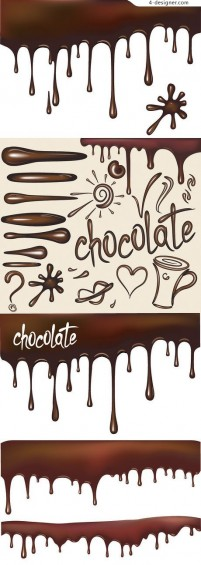 Liquid chocolate vector material