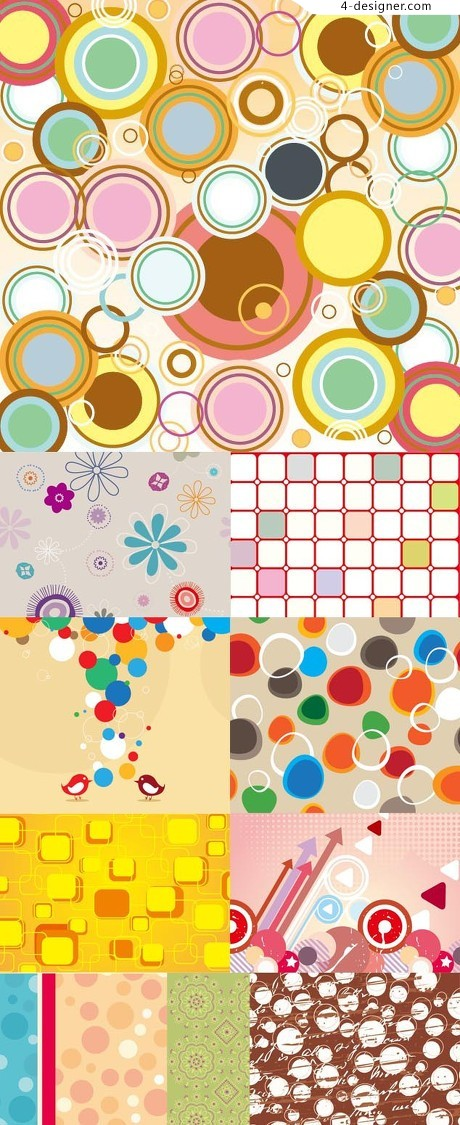 Lovely warm Colorful background vector material