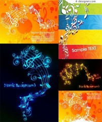 Music theme vector material