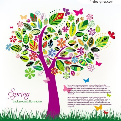 Natural flavor of spring vector material