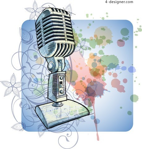 Painted microphone vector material