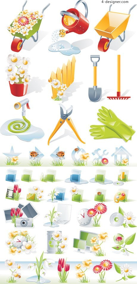 Planting equipment icon vector material