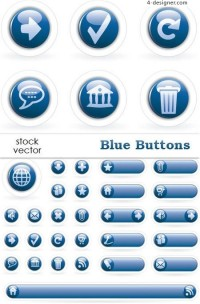 Round 3D Internet icon button vector material