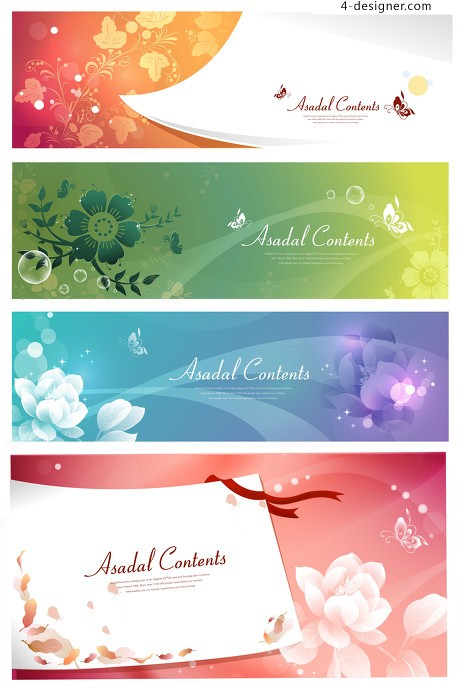 Several fresh and simple card background material