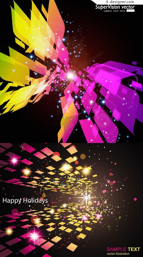 Star Bright colorful background vector material