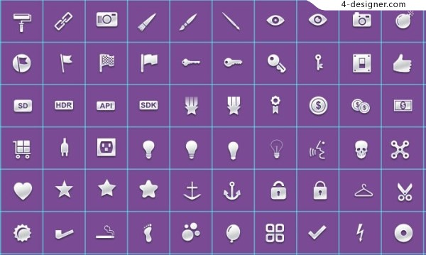 200 pages of small icons psd