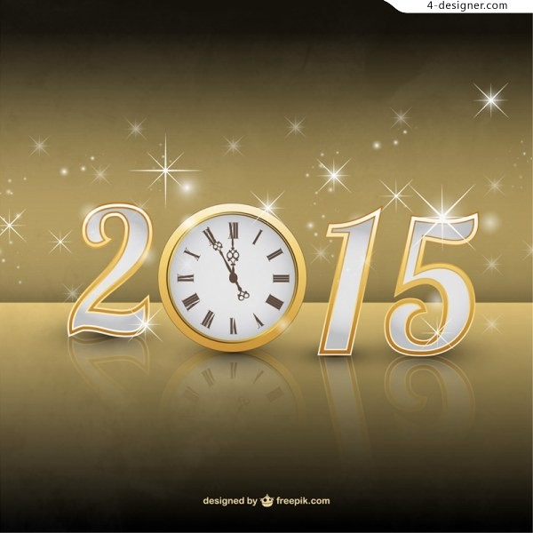 2015 text and clock