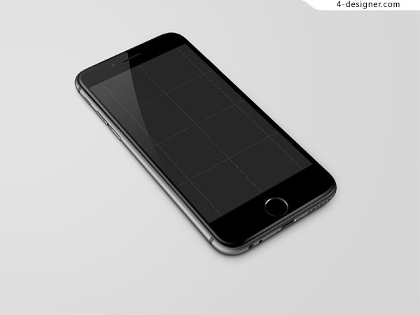 47 inch iPhone 6 template Grey