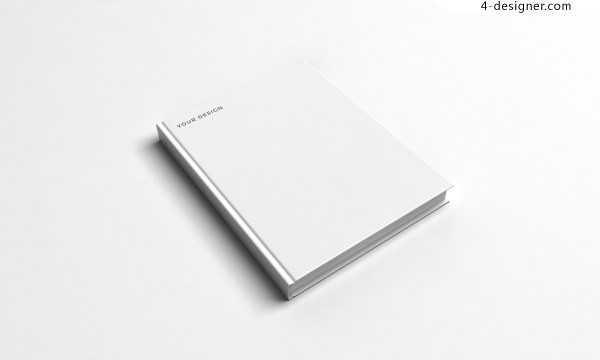 Blank book cover texture template