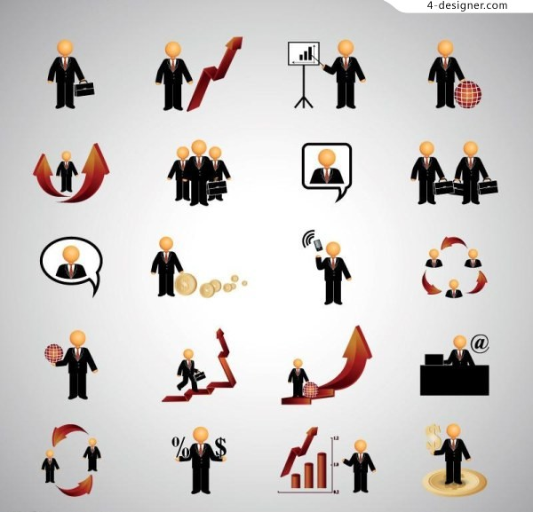 Business suit villain icon material commonly used financial office PPT