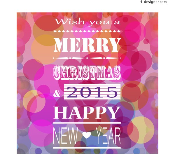 Creative New Year s party theme vector material